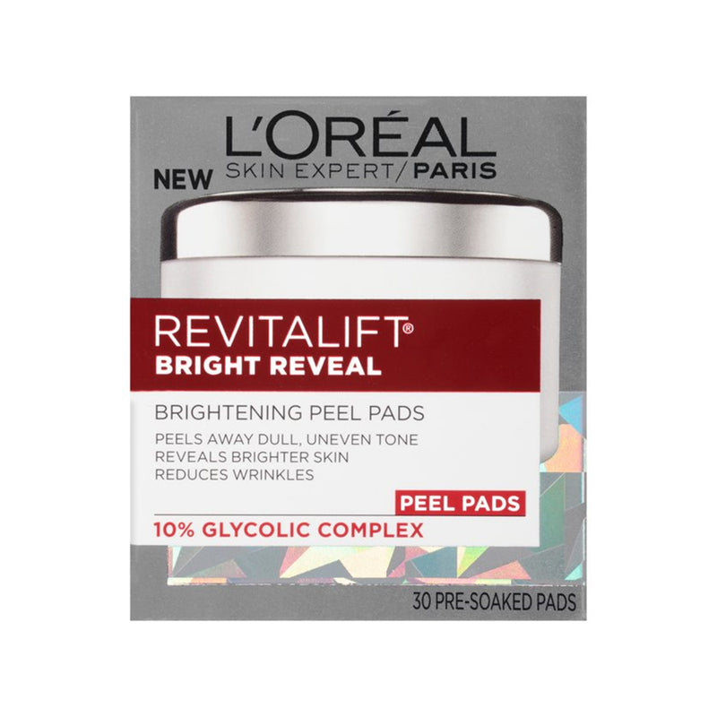 L'Oreal Paris Skin Care Revitalift Bright Reveal Peel Pads, 30 Count