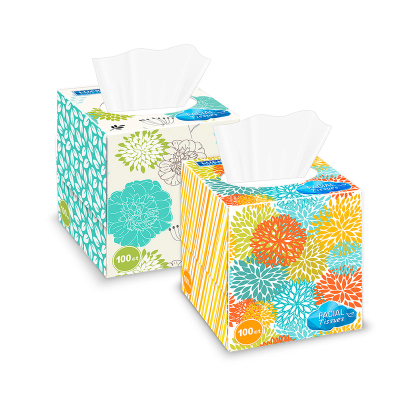 Lucky Super Soft Facial Tissues - Cube Box 100 Ct.