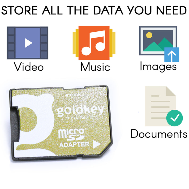 Goldkey Micro Sd 8g MSD8GU1, U1 Class 10 with Adapter.