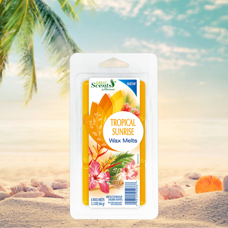 Great Scents Wax Melt - Tropical Sunrise 6 Ct.