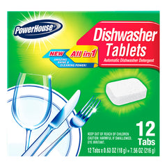 PowerHouse Dishwasher Tablets - Fresh Scent 12 tabs