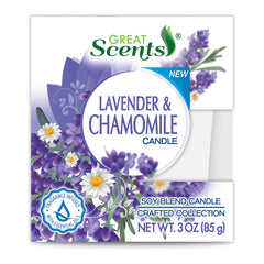 Great Scents Soy Candle - Lavender & Chamomile 3 Oz.