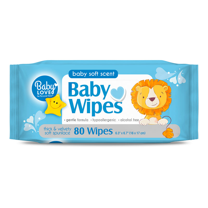 Baby Love Baby Wipes - Blue 80 Ct