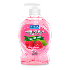 Lucky Super Soft Small Soap - Antibac Sun Ripened Raspberry 7.5 Oz