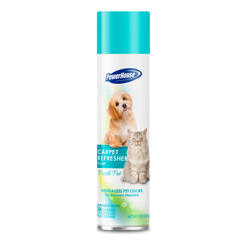 PowerHouse Aerosol Cleaner - Carpet Deodorizer - Pet Fresh 9 oz.