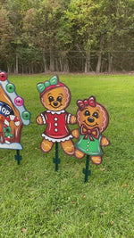 Gingerbread Christmas Yard Art