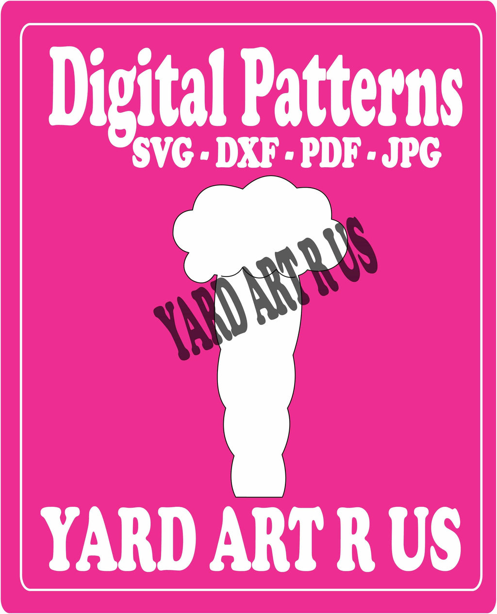 carrot digital pattern - SVG, DXF, PDF, and JPG file options
