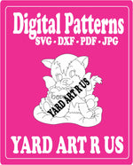 Cat valentine digital patterns; SVG, DXF, PDF, and JPG file options
