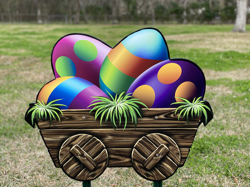 Cart of Easter Eggs