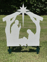 Christmas Nativity yard Art