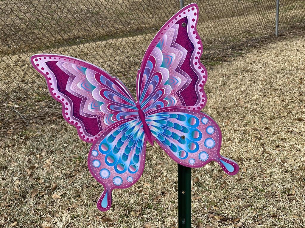 butterfly yard art