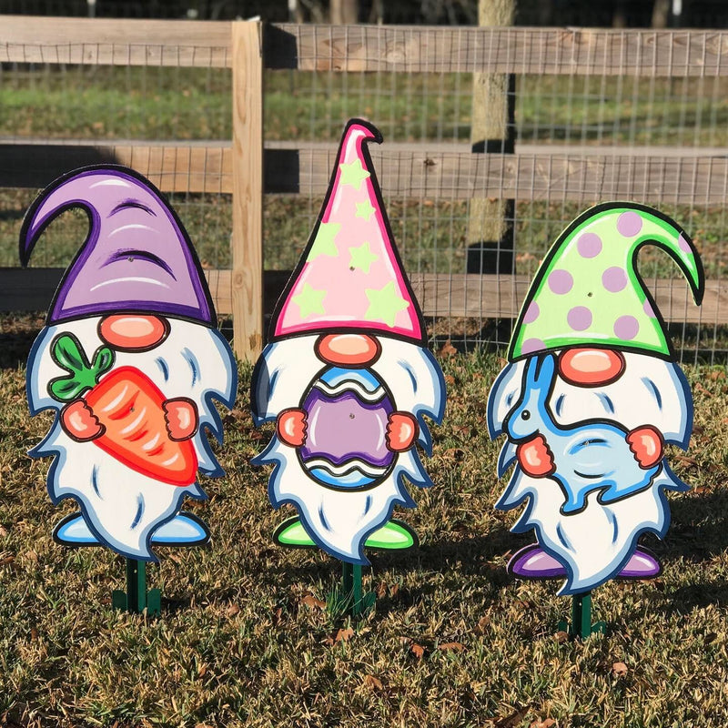 Easter Yard Art- Easter Gnomes Set of 3