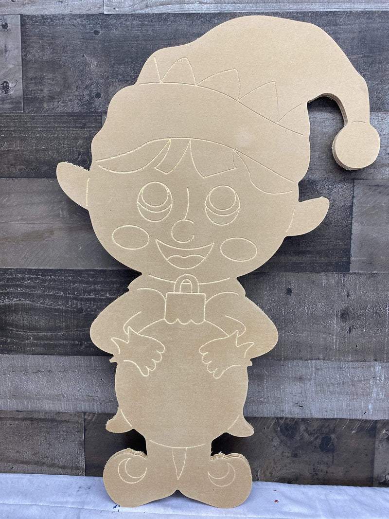 Christmas Yard Art Elf Boy with Bulb Blank Ready to be painted by you