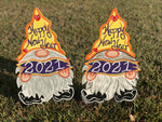 New Year's Gnome with 2021 Banner Sign