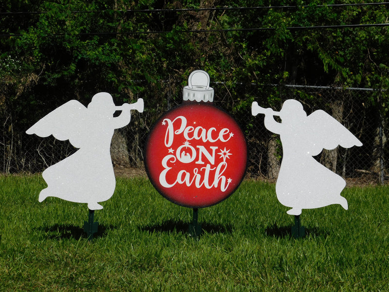 Peace on Earth bulb(3ft)  with two angels