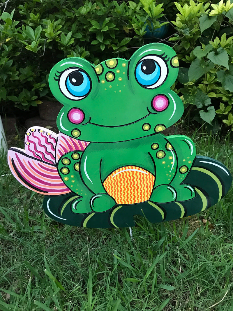 Frog on Lily Pad DIY Blank