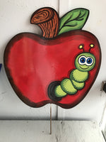 apple door hanger paint party blanks