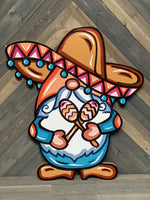 Sombrero Gnome hand painted