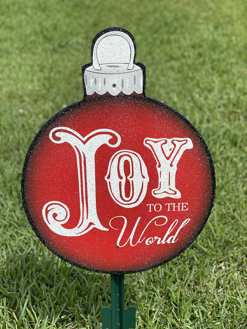 Joy to the World with tall Letter J Christmas Bulb-3FT