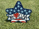 patriotic yard art star