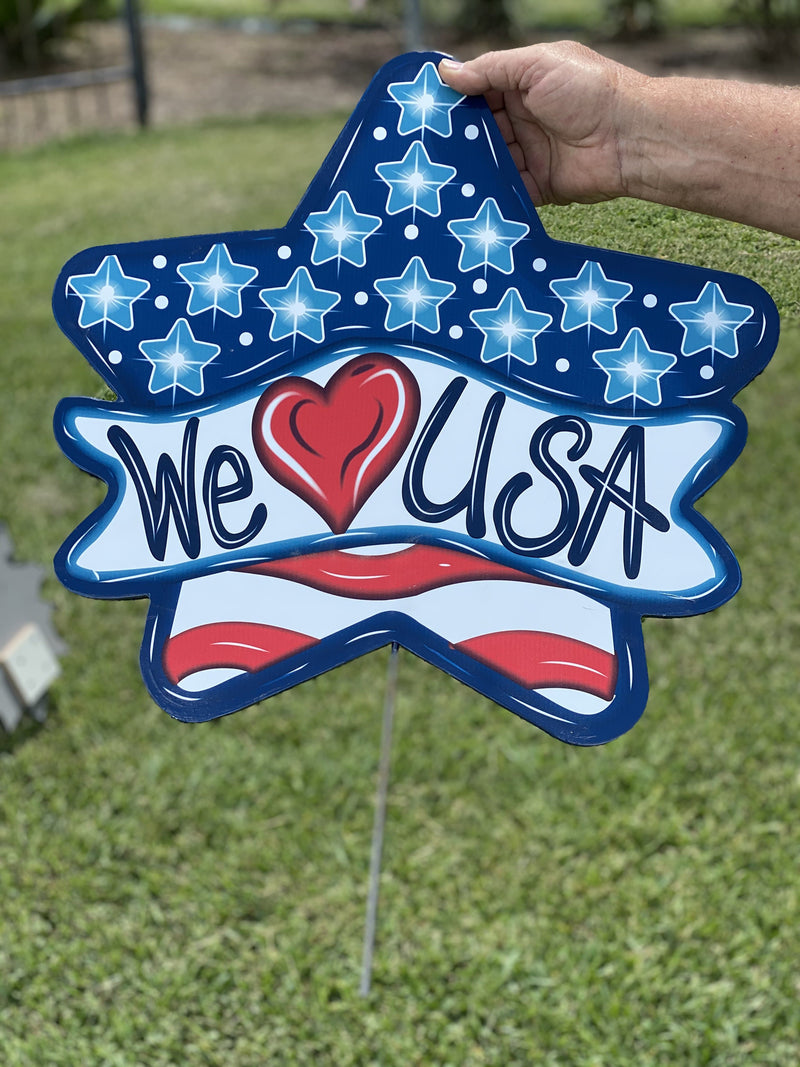 we love USA yard art