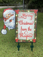 Personalized Santa Sign