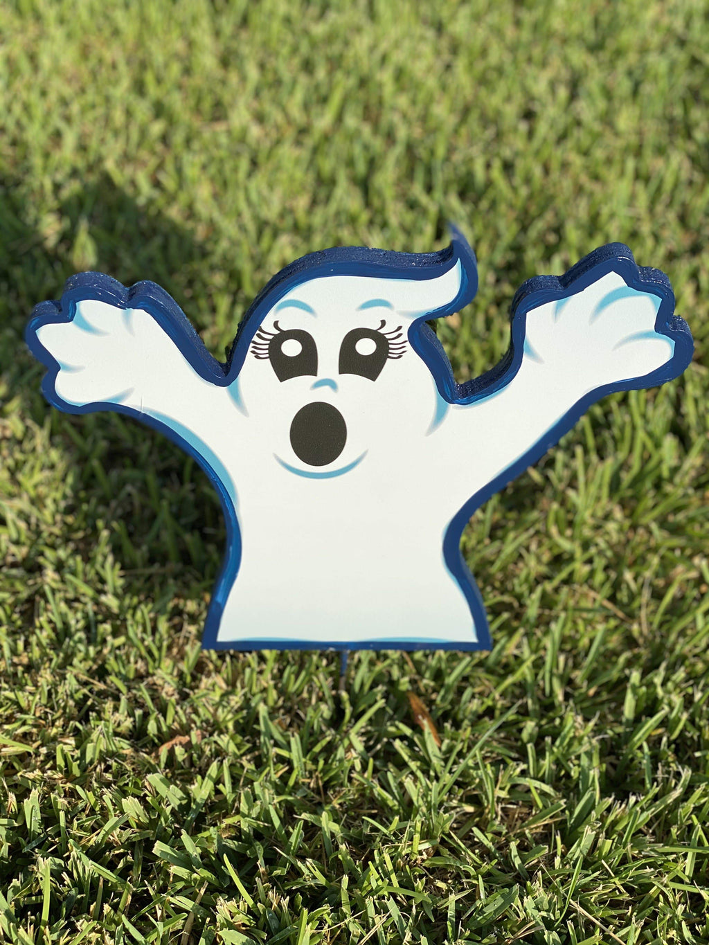 small Halloween ghost painted yard art design