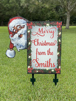 Personalized Santa Family Name Sign