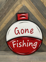 Gone Fishing Bobber Yard Art