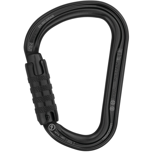 Vponka z matico Petzl William Triact Lock Carabiner Črna
