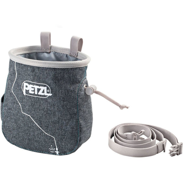 Magnezij vrečka Petzl Saka Chalk Bag (Mottled Grey)