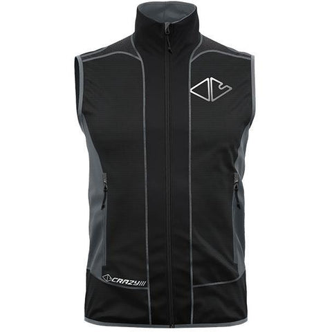Moški softshell brezrokavnik Crazy Idea Vest Avenger Light (Black)