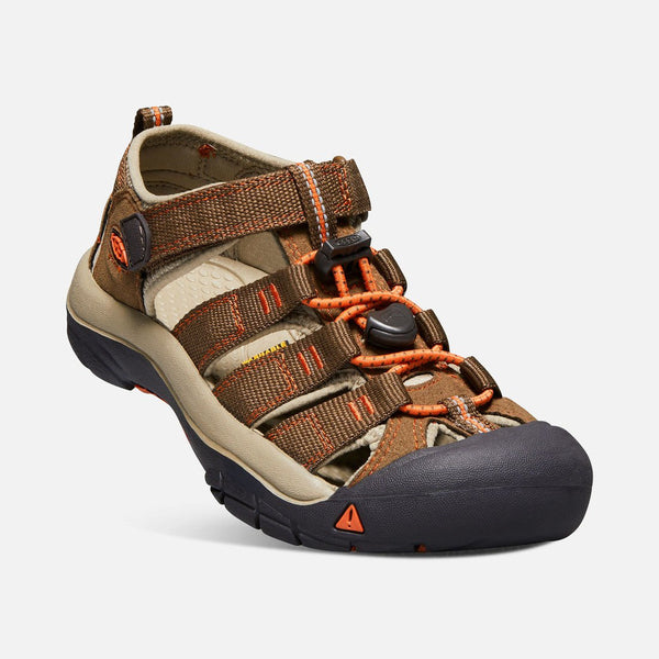 Otroški sandali Keen Newport H2 Sandals  (Dark Earth/Spicy Orange)