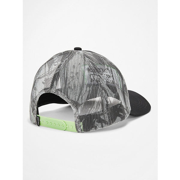 Kapa Marmot Retro Trucker Hat (Black/Racing Stripes)