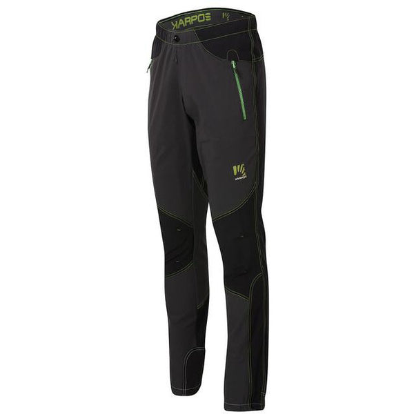 Moške pohodne hlače Karpos Rock Pant (Dark Grey/Black/Apple Green)