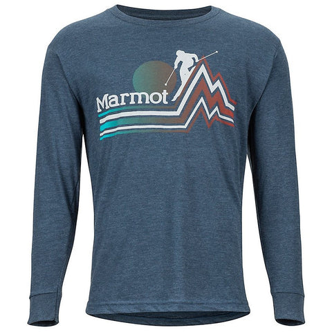 Moška majica Marmot Piste LS T-Shirt (Navy Heather)
