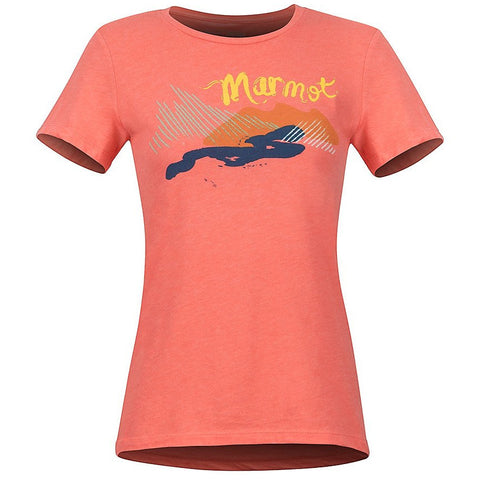 Ženska majica Marmot Wm's Esterel SS Tee (Famingo Heather)