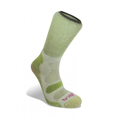 Ženske nogavice Bridgedale Active Light Hiker Socks (Spring Green)