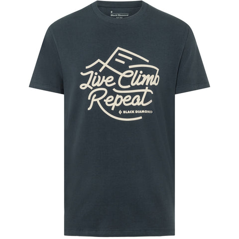 Moška majica Black Diamond Live Climb Repeat Tee (Eclipse)