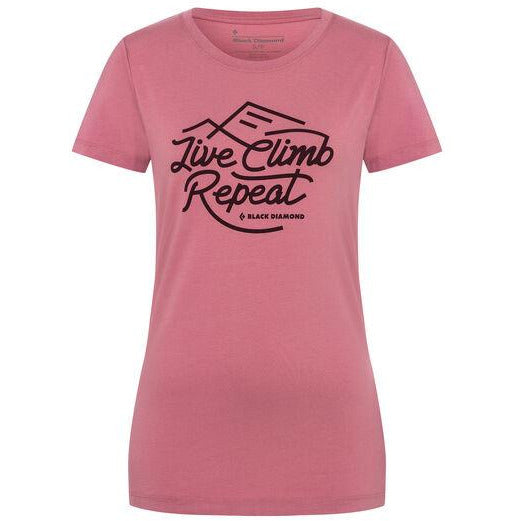 Ženska majica Black Diamond Live Climb Repeat Tee-Women's (Rosewood)