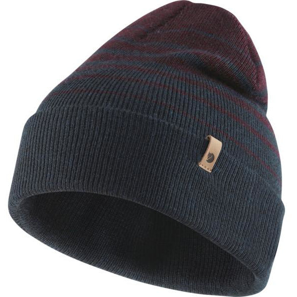 Kapa Fjällräven Classic Striped Knit Hat (Dark Navy/Dark Garnet)
