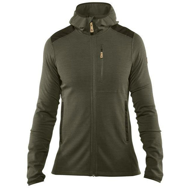 Moški flis Fjällräven Keb Fleece Hoodie (Laurel Green-Deep Forest)