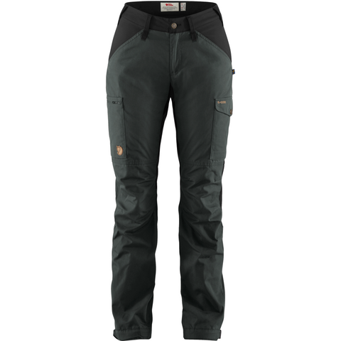 Ženske hlače Fjällräven Kaipak Trousers Curved W (Dark Grey-Black)