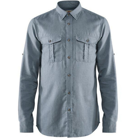 Moška srajca Fjällräven Övik Travel Shirt LS (Clay Blue)