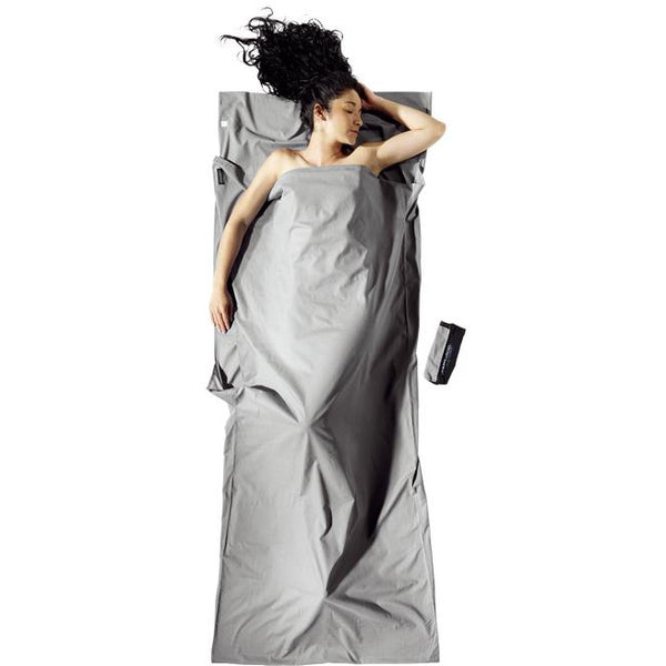 Spalna rjuha Cocoon Cotton Travel Sheet Insect Shield (Safari Grey)