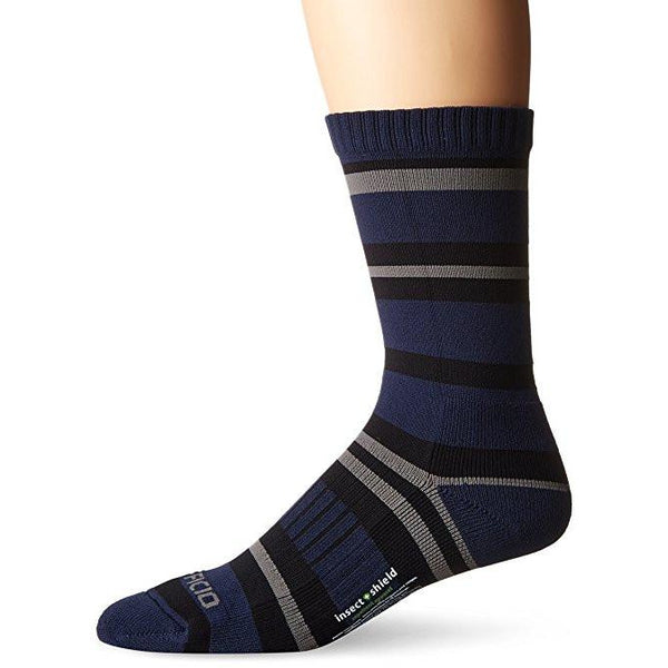 Nogavice ExOfficio BugsAway® Sol Cool Crew Sock (Navy Stripe)