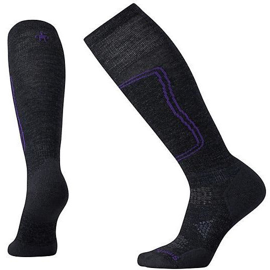 Ženske nogavice Smartwool PhD® Ski Light Socks (Charcoal)