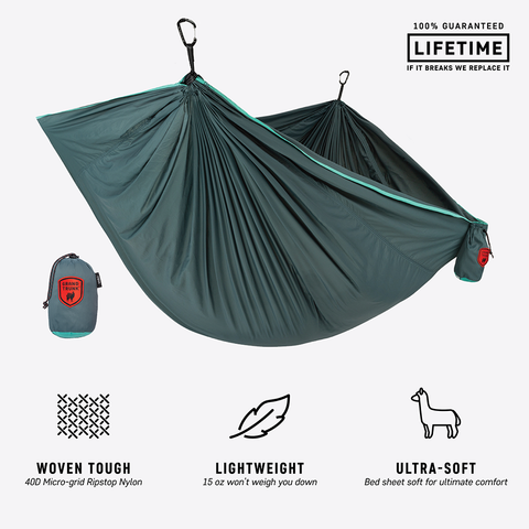 Viseča mreža Grand Trunk TrunkTech Hammock Single (Teal Turquise)