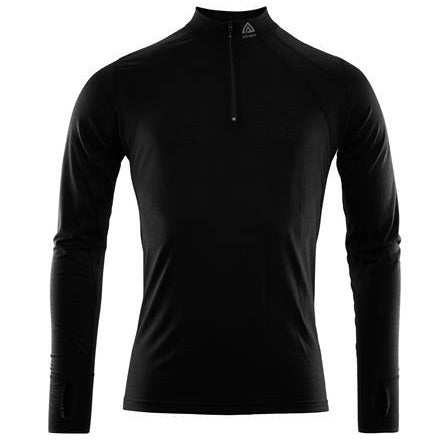 Moški volnen puli Aclima LightWool Zip Shirt (Jet Black)