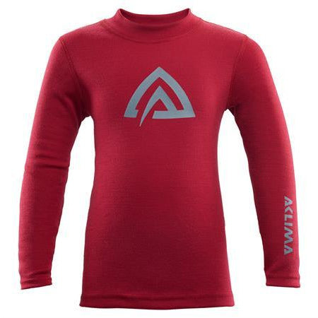Otroška volnena majica Aclima WarmWool Crew Neck (Chilli Pepper/Olive Night)